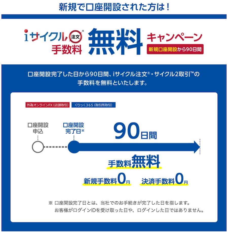 iサイクル注文手数料無料キャンペーン
